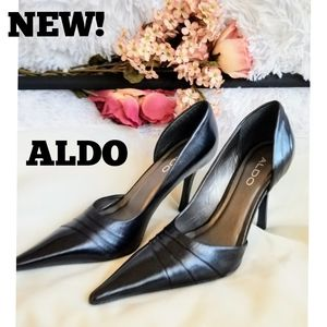 Aldo NEW YORK Black Leather Pumps / heels